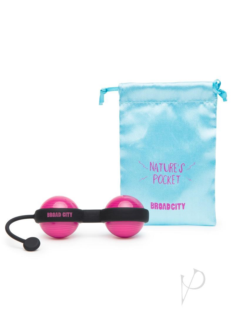 Broad City Nature`s Pocket Weighted Kegel Balls Hot Pink And Black